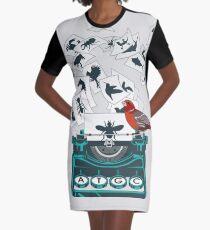 Alphabet of Life Graphic T-Shirt Dress