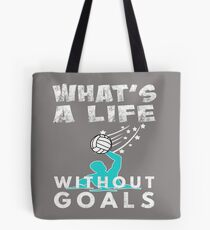 43ffc66153 Funny Boys   Mens Waterpolo Gift Wats Life Without Goals Water Ppolo Tote  Bag