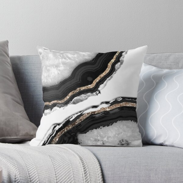Agate Glitter Glam #2 #gem #decor #art  Throw Pillow