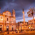 Palermo in Night by Sunil Bhardwaj