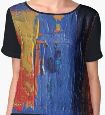 Red Blue and Yellow  Chiffon Top