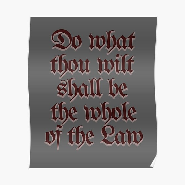 Do What Thou Wilt Crowley Thelema Occult Magick Poster