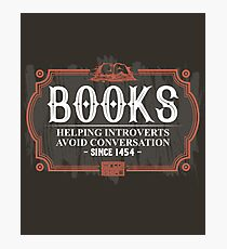Books Introverts Avoid Conversation Introvert Book Photographic Print