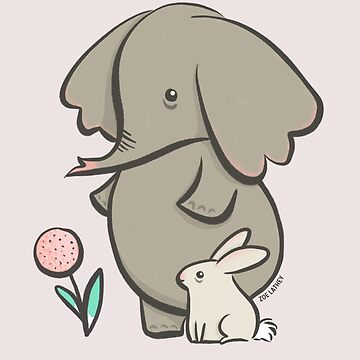 Hay fever - elephant and bunny rabbit by zoel