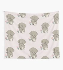 Hay fever - elephant and bunny rabbit Wall Tapestry