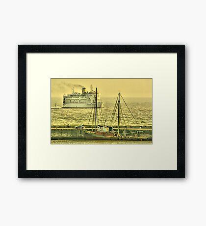 Steam and Sail Framed Print