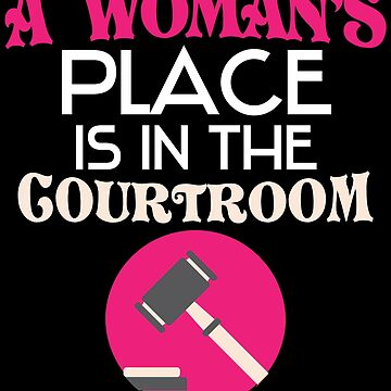 Womens Place Funny Lawyer Shirt Women Law Student Attorney by kh123856