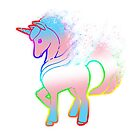 Magical Rainbow Unicorn in Trans and LGBTQ+ Ally Colours. by Nick Lewis