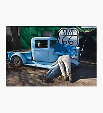 Gettin My Kicks on Route 66 Photographic Print