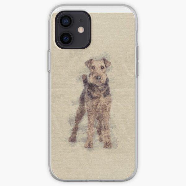 Airedale Terrier sketch iPhone Soft Case