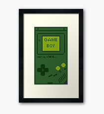 Retro Game Boy Framed Print