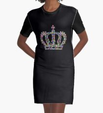 Colorful crown Graphic T-Shirt Dress