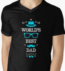 Father's Day worlds best dad Men's V-Neck T-Shirt