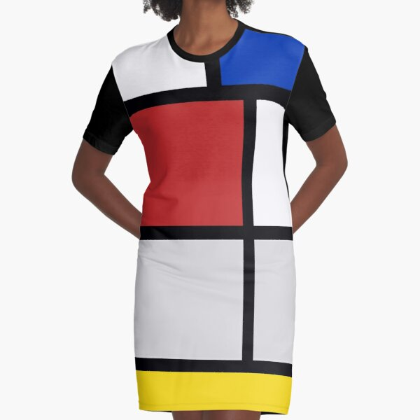 De Stijl artworks - Mondriaan  Graphic T-Shirt Dress