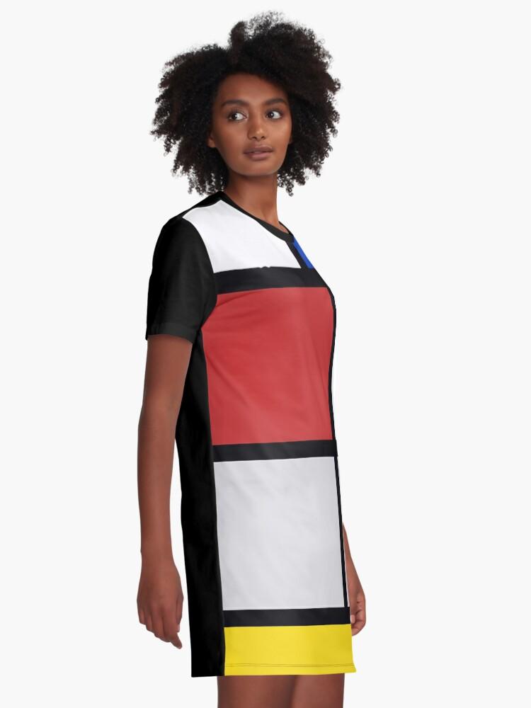 Alternative Ansicht von De Stijl Kunstwerke - Mondriaan T-Shirt Kleid