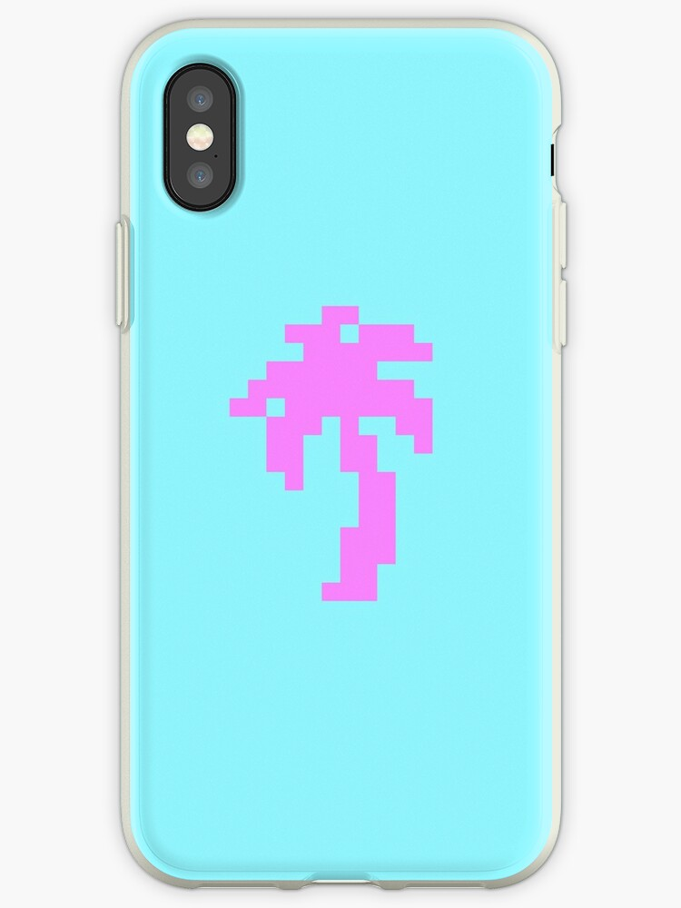 Pixel Art Pink Palm Tree by Haykira