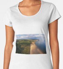 Aerial view of Oxwich Bay  Women's Premium T-Shirt