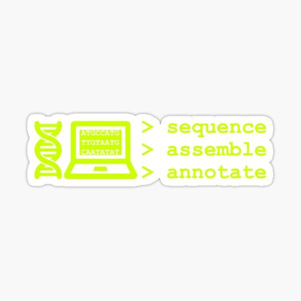 Bioinformatics Genome Sequence Assemble Annotate Green Sticker