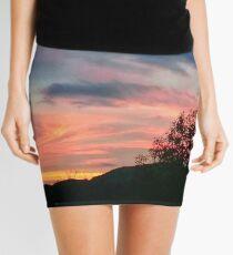 Sunset Colorful Image Mini Skirt
