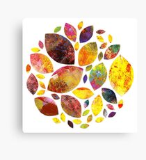 Autumn Leaf Mandala Canvas Print