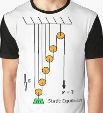 Physics, problem, Mechanics, Newton's laws, f=mg, cords, cord, pulley, #Physics, #problem, #Mechanics, #NewtonsLaws, #f=mg, #cords, #cord, #pulley Graphic T-Shirt
