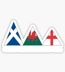 3 peaks flag Sticker