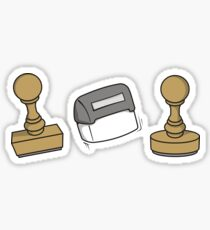 Rubber stamps Sticker