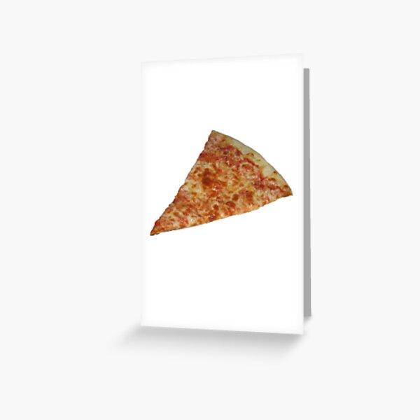 Pizza Sticker Greeting Card