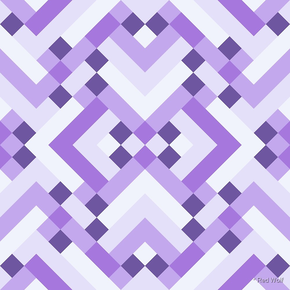 Geometric Pattern: Woven Rug: Purple by * Red Wolf