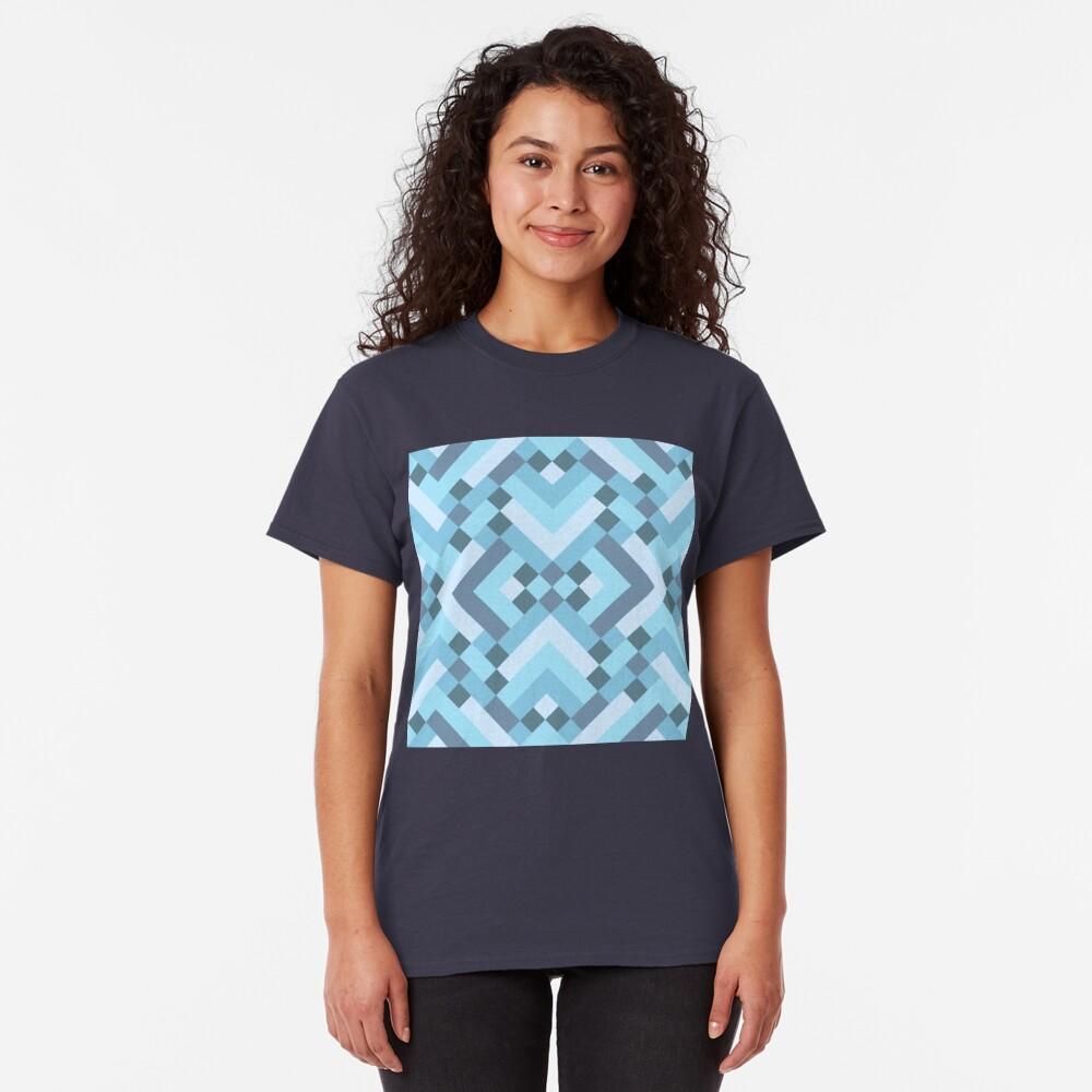 Geometric Pattern: Woven Rug: Blue Classic T-Shirt