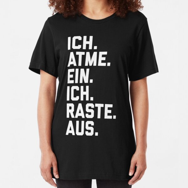 I breathe in, I sped Slim Fit T-Shirt