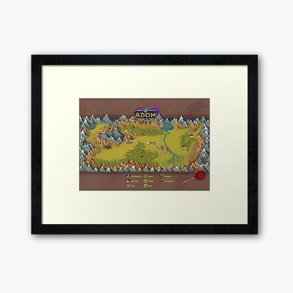 ADOM map Framed Art Print