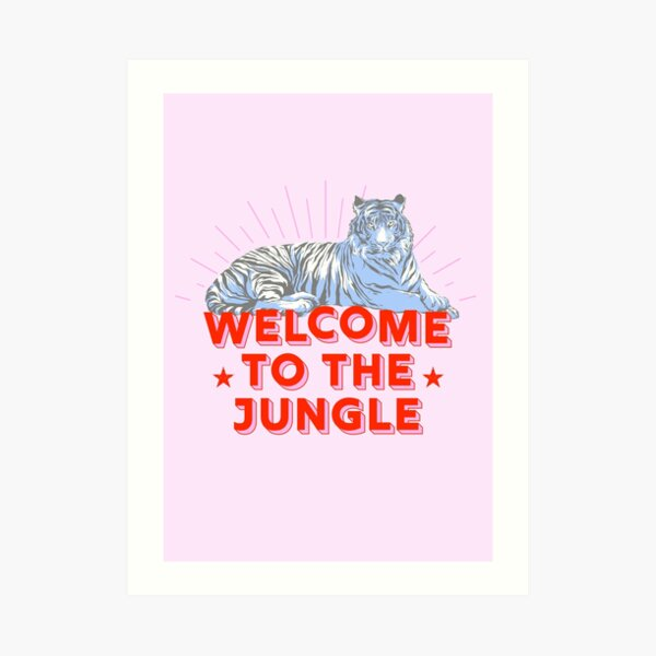 Retro Tiger - welcome to the jungle Art Print