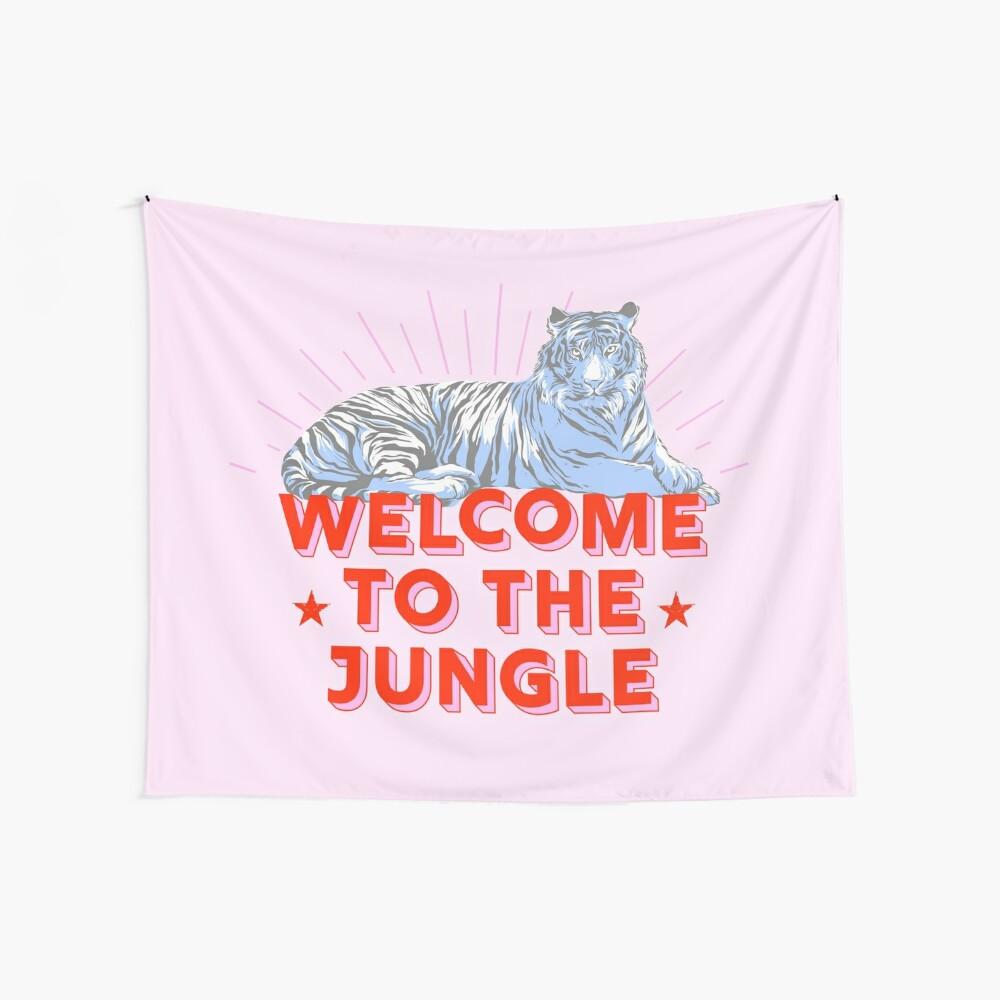 Retro Tiger - Willkommen im Dschungel Wandbehang