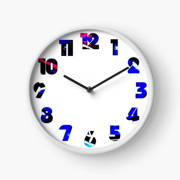 Graffiti 13 Numbers Overlay Wall Clock Clock