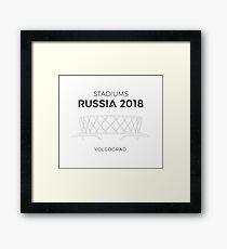 Stadiums   Russia 2018 Framed Print