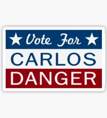 Vote Carlos Danger Sticker