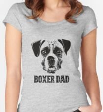 Boxer Dog Dad Women's Fitted Scoop T-Shirt