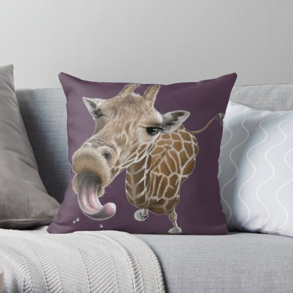 Give me a kiss Throw Pillow