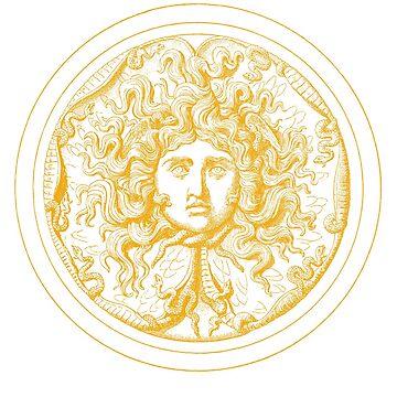 Medusa shield gold by milankovacevic