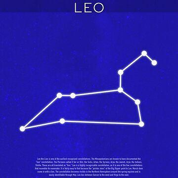 Leo Die Konstellationen der minimalistischen Serie 07 von scienceispun