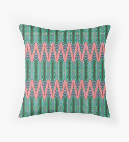 CHRYSLER BUILDING - Neon Pink & Green Throw Pillow