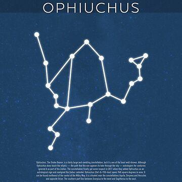 Ophiuchus Die Konstellationen Minimalist Series 09 von scienceispun