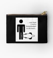 Honeybadger to the Knee Studio Pouch