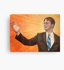 Dwight Schrute Propaganda Painting  Canvas Print