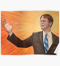 Dwight Schrute Propaganda Painting  Poster
