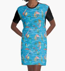 Mermaids and friends Graphic T-Shirt Dress