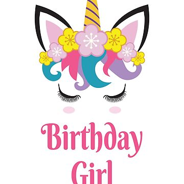 Unicorn Birthday Girl Gifts by epicshirts