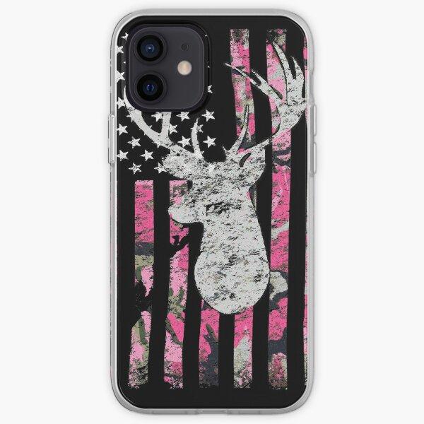 Pink Camouflage Flag Deer Hunting iPhone Soft Case