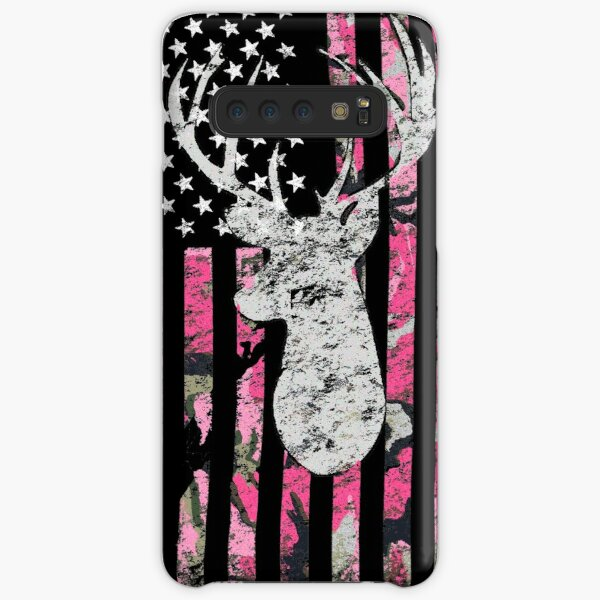 Pink Camouflage Flag Deer Hunting Samsung Galaxy Snap Case
